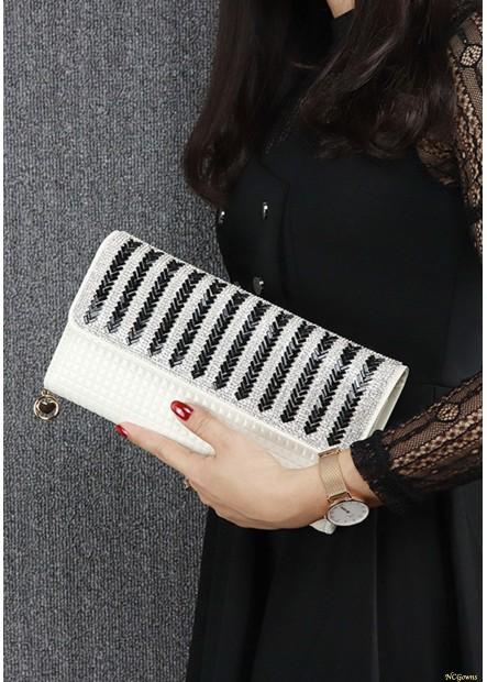 New Striped Diamond One Shoulder Slung Handbags T901556096545