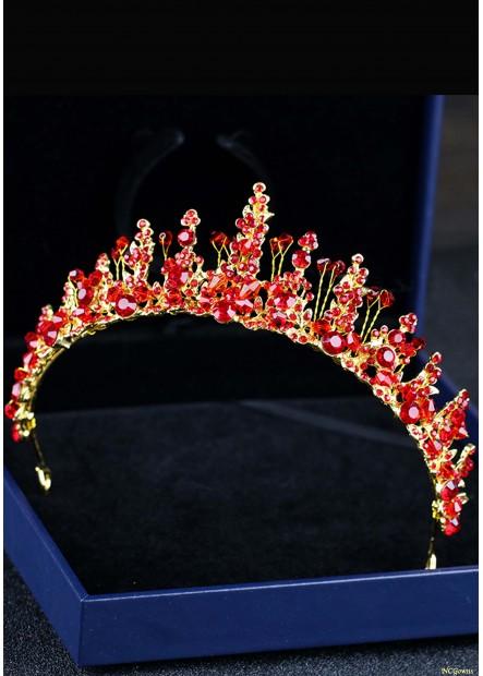 Red Crystal Rhinestone Tiaras T901556607657