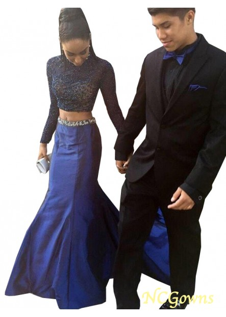 NCGowns Two Piece Long Mermaid Long Prom Evening Dress T801524705056