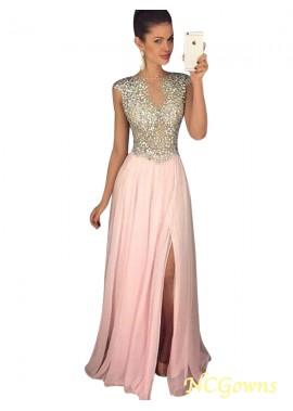 NCGowns Pink Long Evening Dress T801524703645