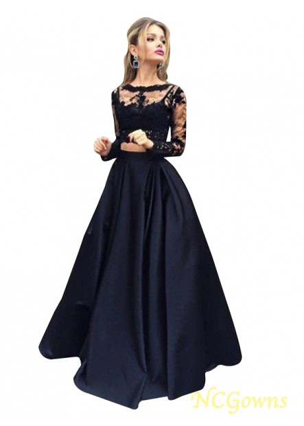 NCGowns Lace Black Long Prom Evening Dress T801524703566