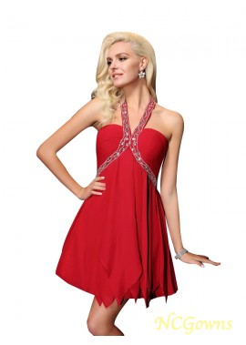 NCGowns Red Short Homecoming Prom Evening Dress T801524708281