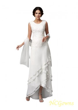 NCGowns White Mother Of The Bride Dress With Shawl T801524724679