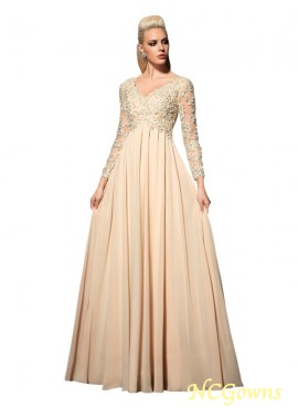 NCGowns Long Prom Evening Dress With Long Sleeves T801524709707