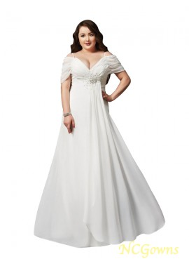 NCGowns White Long Plus Size Prom Evening Dress T801524704103