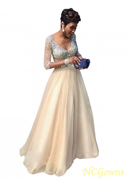 NCGowns Champagne Long Prom Evening Dress T801524703874