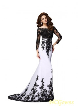 NCGowns Sexy Long Prom Evening Dress With Long Sleeves T801524703635