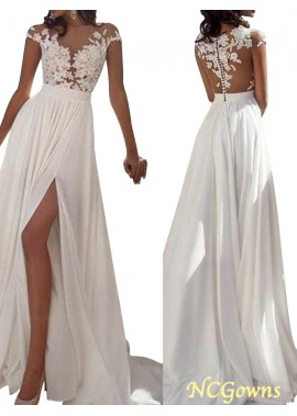 NCGowns Sexy 2021 White Summer Beach Beach Long Wedding  / Evening Dresses T801524703573