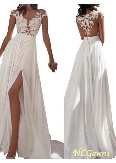 NCGowns Sexy 2021 White Summer Beach Beach Long Wedding  / Evening Dresses T801524703573