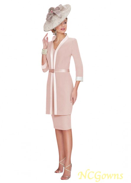 NCGowns Mother Of The Bride Dress With Jacket Knee Length T801525338946