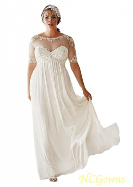 NCGowns Simple Plus Size Wedding Dress T801525317649