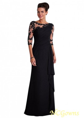NCGowns Black Chiffon Mother Of The Bride Dress T801525338423