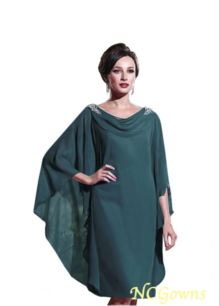 NCGowns Short Green Mother Of The Bride Dress Knee Length T801525338878