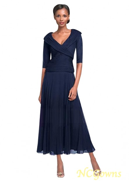 NCGowns Navy Mother Of The Bride Dress Ankle Length T801525338428