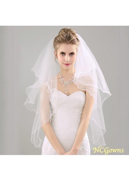 Rolled bridal wedding dress wedding veil piping with black metal hair comb Wedding Veil T901554104995
